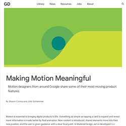 Making Motion Meaningful