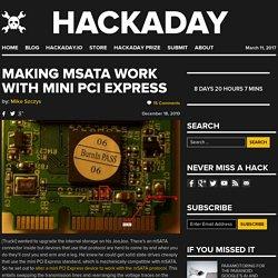Making mSATA work with mini PCI Express