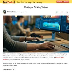 Making of Striking Videos