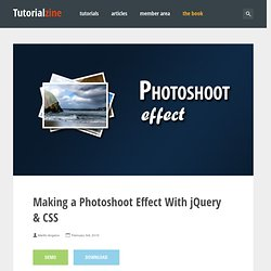 Making a Photoshoot Effect With jQuery & CSS – Tutorialzine