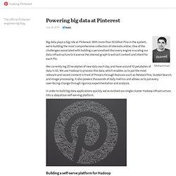 Powering big data at Pinterest