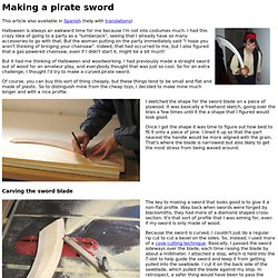 Making a pirate sword