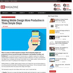 Making Mobile Design More Productive in Three Simple Steps