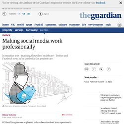 Making social media work professionally