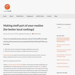 Search Engine Optimization» Blog Archive » Making stuff part of your routine (for better local rankings)