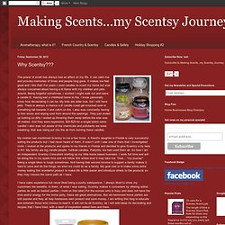 Making Scents...my Scentsy Journey: Why Scentsy???
