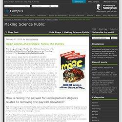 Open access and MOOCs: follow the money