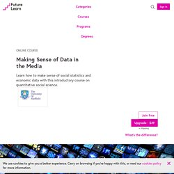 Making Sense of Data in the Media - Online Course