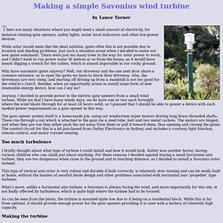 Making a simple Savonius wind turbine