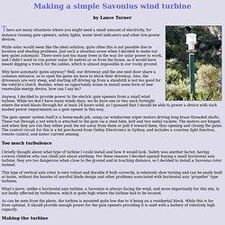 Making a simple Savonius wind turbine