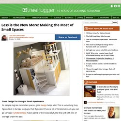 Less is the New More: Making the Most of Small Spaces : TreeHugger - StumbleUpon
