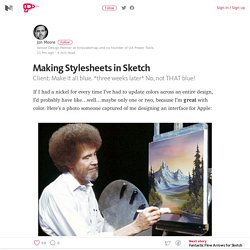 Making Stylesheets in Sketch – UX Power Tools