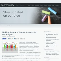 Making Remote Teams Successful With Agile - SerpicoDEV Blog