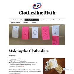 Making the Clothesline – Clothesline Math