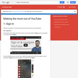 Making the most out of YouTube - YouTube Help