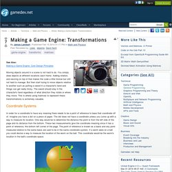 Making a Game Engine: Transformations - Math and Physics