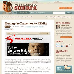 Making the Transition to HTML5