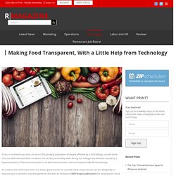 Making Food Transparent, With a Little Help from Technology