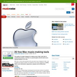 26 free Mac music-making tools - Tutorials