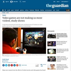 Video games are not making us more violent, study shows