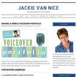 Making A Simple Voiceover Portfolio