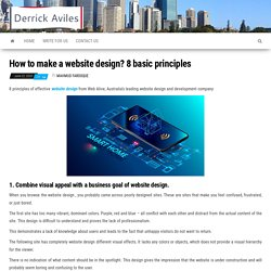 Making website design some important tips in 2020