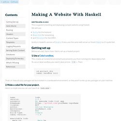 Making A Website With Haskell - adit.io