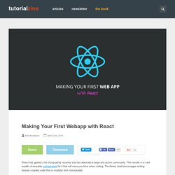 Making Your First Webapp with React