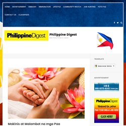 Makinis at Malambot na mga Paa – Philippine Digest