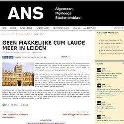 ANS: Geen makkelijke cum laude meer in Leiden