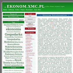 EKONOM.XMC.PL » Makroekonomia» Ekonomia FAQ Analiza Finansowa Bilans Gospodarka
