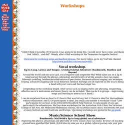 Mal Webb Site-Workshops