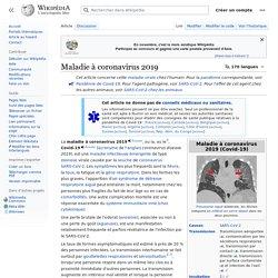 Maladie à coronavirus 2019