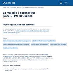 La maladie à coronavirus (COVID-19) au Québec