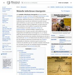 WIKIPEDIA - Maladie infectieuse émergente.