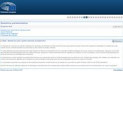 PARLEMENT EUROPEEN - Réponse à question E-000799-16 Maladie de Lyme, quelles réponses européennes?