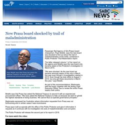 New Prasa board shocked by trail of maladministration:Friday 4 September 2015