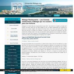 Malaga Restaurants - un guide de l'étudiant pour manger dehors à Malaga