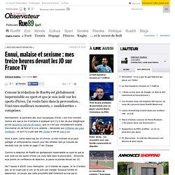 Ennui, malaise et sexisme: mes treize heures devant les JO sur France TV