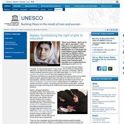 Malala: Symbolizing the right of girls to education