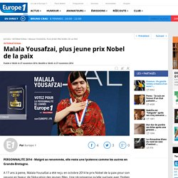 Malala Yousafzai, plus jeune prix Nobel de la paix