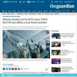 Malaria deaths cut by 60% since 2000 but UN says $6bn a year boost needed