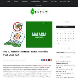 Top 10 Malaria Treatment Home Remedies That Work Fast