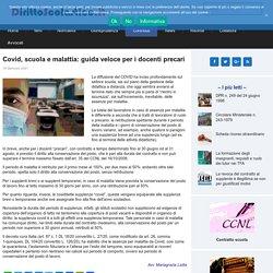 Covid, scuola e malattia: guida veloce per i docenti precari - DirittoScolastico.it