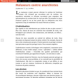 Malaxeurs contre anarchistes