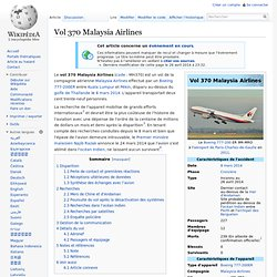 Vol 370 Malaysia Airlines