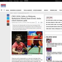 CWG 2018, India vs Malaysia, Badminton Mixed Team Event: India clinch historic gold