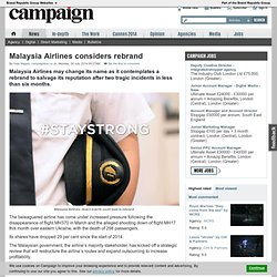 Malaysia Airlines considers rebrand