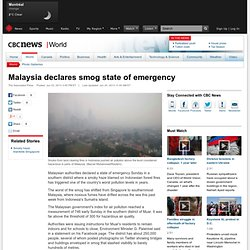 Malaysia declares smog state of emergency - World