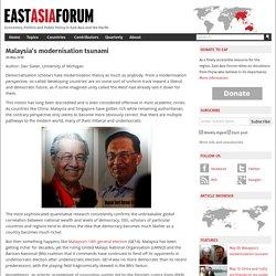 Malaysia's modernisation tsunami
